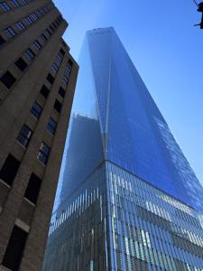 Looking up at Freedom Tower